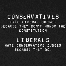 CONSERVATIVE JUDGES LIBERAL JUDGES