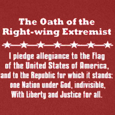 THE OATH OF THE RIGHT WING EXTREMIST